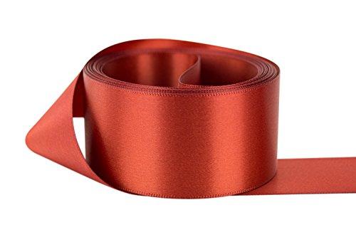 Ribbon Bazaar Double Faced Satin 5/8 inch Rust 50 yards 100% Polyester (Rust Satin Ribbon)