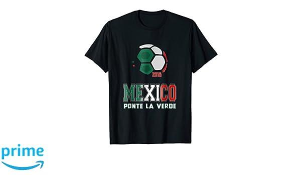 Amazon.com: Mens Mexico Russia 2018 Ponte la Verde Copa Mundial Russia Camisa: Clothing
