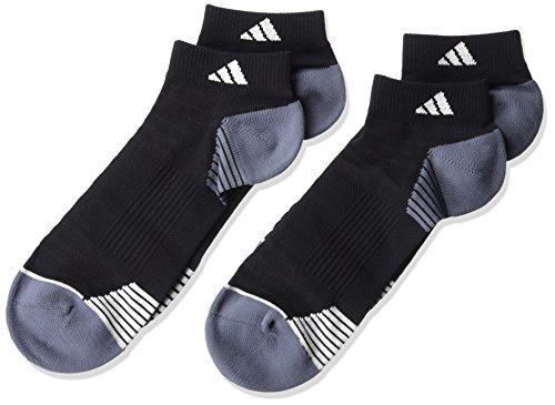 adidas Mens Superlite Prime Mesh Low Cut Socks (2-Pack), Black/Onyx/White, Large