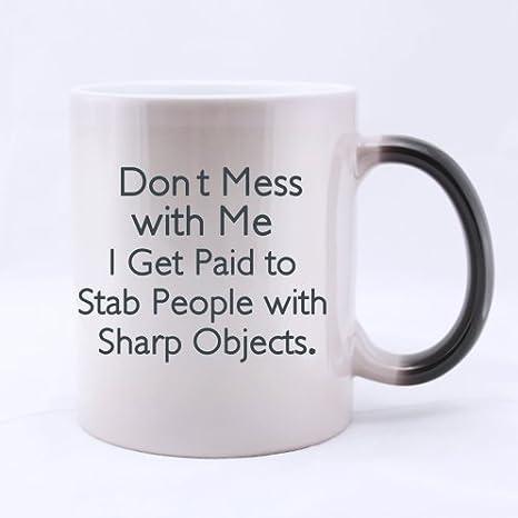 Amazoncom Novelty Design Fashion Gift Funny Quotes Mug Dont Mess