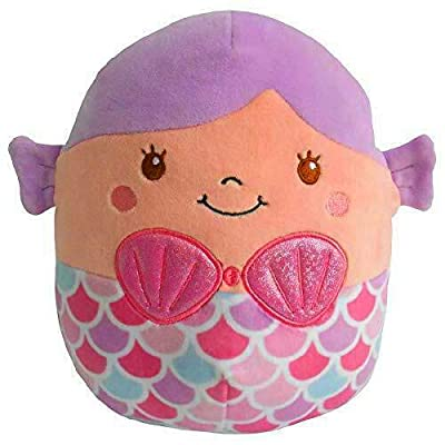 Squishmallows~ Soft Plush Character Pillow (Denise Mermaid 16): Home & Kitchen