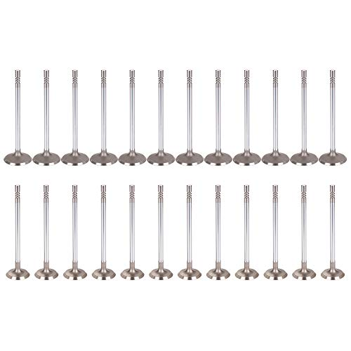 ECCPP Replacement for Engine Intake Exhaust Valves Kit for?1996-2012 Mazda Ford Lincoln 3.0L DOHC 24v VIN 1 24Pcs 01788, 01787 Intake Valve -