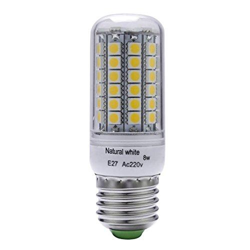 Corn light - SODIAL(R)8W, 80W Halogen Bulb Equivalent, E27, 580 Lumens, 69 pcs SMD 5050, White, 4500K LED Corn light Bulb Indoor Bar Lighting