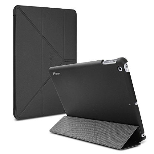 iPad 2017 9.7 Case, Apple iPad 2017 9.7 Folio Case, roocase Origami Slim Shell Folio Case with Stand Feature for 9.7-inch iPad 2017, Black