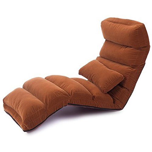 ZLJTYN Lounge Chairs | Floor Folding Chaise Lounge Chair Modern Fashion 6 Color Living Room Comfort Daybed Lazy Reclining Upholstered Sleeper Sofa Bed, 1 Pack - Daybed Chaise