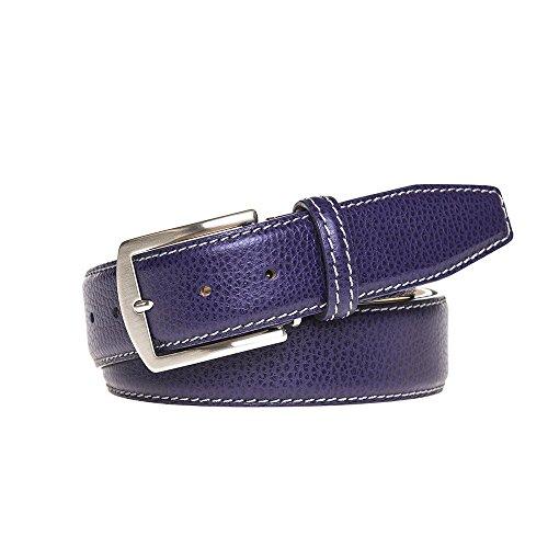 Purple Italian Pebble Leather Belt by Roger Ximenez: Bespoke Maker of Fine Leather Goods