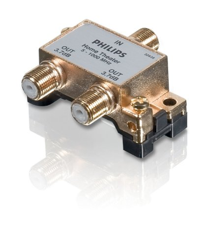Philips SWV3020W/17 2-Way Splitter