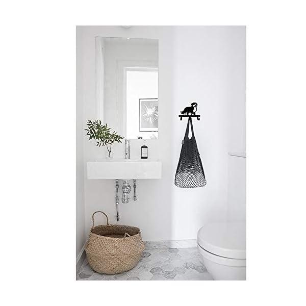 Border Collie Shape Silhouette Australia Shepherd Design Metal Wall Hook for Leash Keys Clothes Towel Kitchen Mudroom Bedroom Bathroom 4