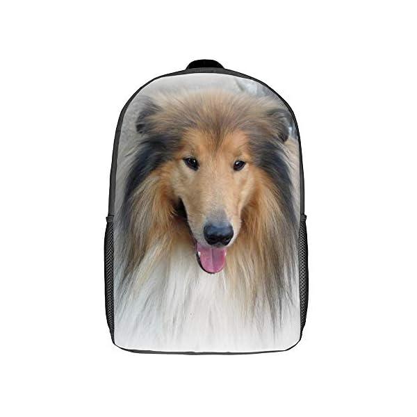 Backpack,School Bag,Travel Daypack,Gift,Scotch Collie Rough Collie Shetland Sheepdog 1