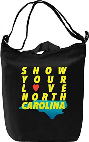 Show Your Love North Carolina Borsa Giornaliera Canvas Canvas Day Bag| 100% Premium Cotton Canvas| DTG Printing|