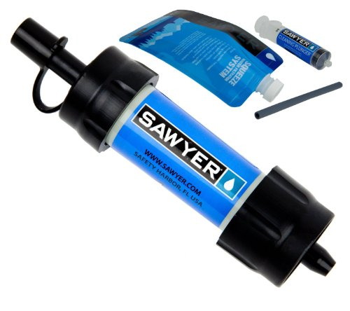 Sawyer Personal Mini Blue Water Filter with a Large GSI O...