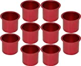 Cup Holders - 10 Aluminum Jumbo Pink Poker Table Drink Cup Holders