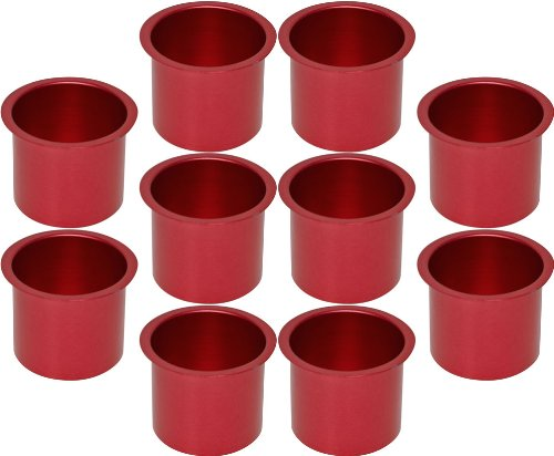 Cup Holders - 10 Aluminum Jumbo Pink Poker Table Drink Cup Holders by CCS