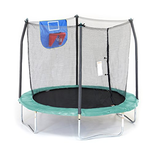 Skywalker-Trampolines-Jump-N-Dunk-Trampoline-with-Safety-Enclosure-and-Basketball-Hoop-8-Feet