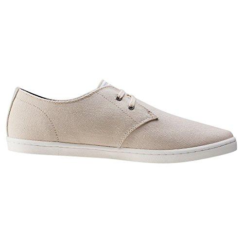 Mens Perry Fred Byron Bassa Twill Di Moda Sneaker Naturale / Bianco Della Neve