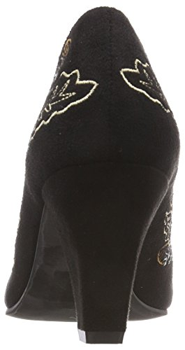 3545706 Escarpins Bout Hirschkogel Femme Fermé schwarz Noir Kombiniert 098 RSnwxpwq