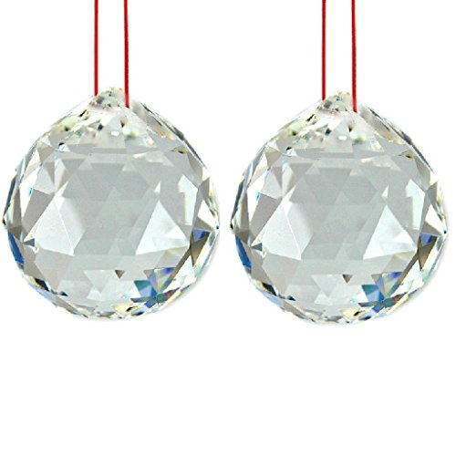 K9 Crystal Ball Drop Prisms Optical Glass Triangular Prism Pyramid for Photography Decoration Birthday Gift Teaching (Prism Ball Pendant 2