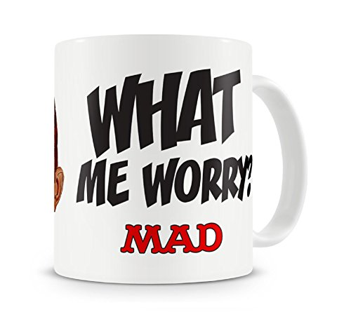 Mad Magazine Mug Alfred E. Neuman What Me Worry Official White