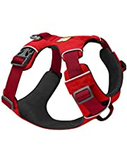 RUFFWEAR, Front Range Dog Harness, Reflective and Padded Harness for Training and Everyday, Red Sumac, Medium