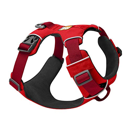 RUFFWEAR - Front Range Dog Harness, Reflective and Padded Harness for Training and Everyday, Red Sumac, X-Small
