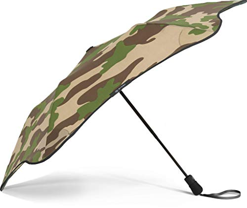 """- BLUNT Metro Travel Umbrella with 37"""" Canopy and Wind Resistant Radial Tensioning System - Camo Black"""