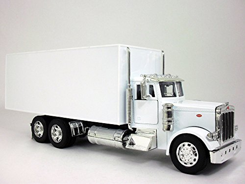 Peterbilt 379 Straight Box Truck1/32 Scale Diecast Model - WHITE