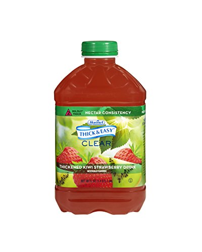 Thick & Easy Clear Thickened Kiwi-Strawberry Drink, Nectar Consistency, 46 Ounce