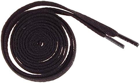 2本 1足 靴ひも ブラック セット 幅8mm (108-110cm)