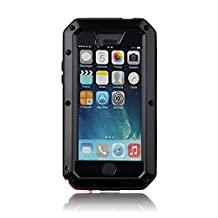 iPhone 5/5S Case Shockproof case,Gorilla Glass [Waterproof] Snowproof Dust/Dirt proof,Military Bumper Heavy Duty cover protection for iPhone 5S & iPhone 5SE Case [4.0 inch] (Black)