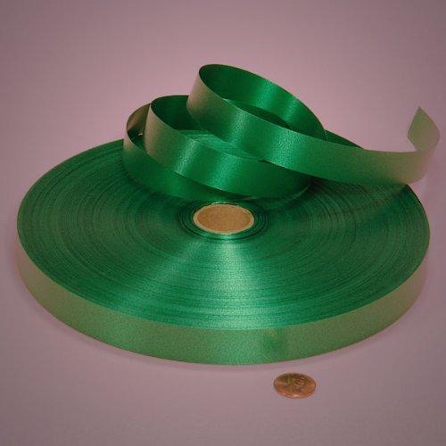 Polypropylene Ribbon - Emerald Green Poly Satin Ribbon, 3/4