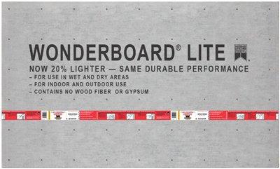 Custom Bldg Products GCB60L Wonderboard Lite, 3 x 5-Ft. x 7/16-In. - Quantity 50