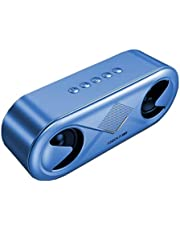 AAHDS Wireless Bluetooth Speaker High Volume Home Phone Overweight Subwoofer 3D Surround Small Portable Outdoor Speaker (Color : Blue)