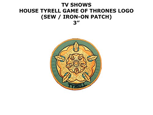 Game of Thrones House Tyrell DIY Embroidered Iron or Sew-on Applique Patch Outlander Gear