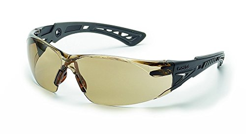 Bolle Safety Rush+ Safety Glasses, Black & Grey Frame, Twilight Lenses