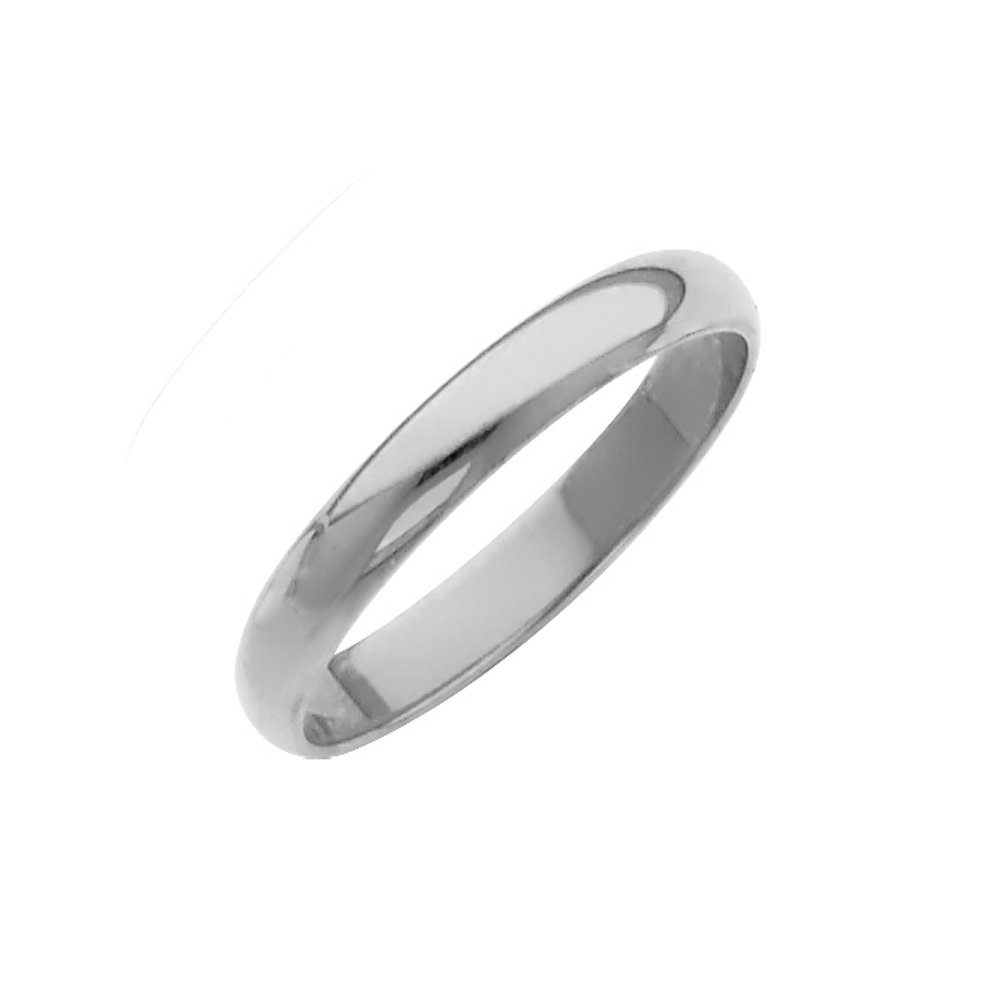 TagaDavao Collection 14K Solid Gold 3mm Plain Regular Fit Wedding Band Size 4 to 12