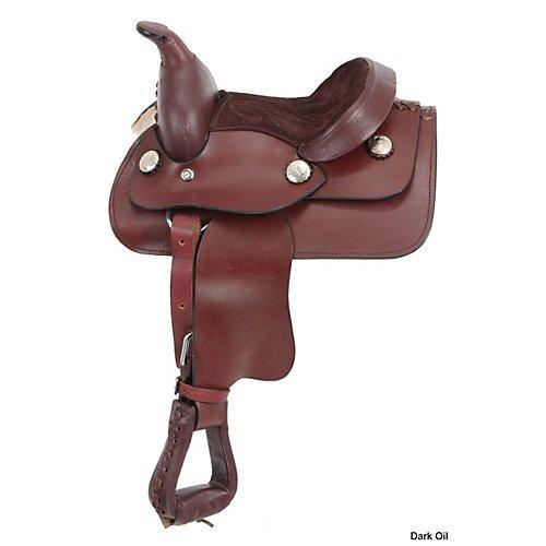 JTI King Series Miniature Western Saddle Black - KS855-2-0