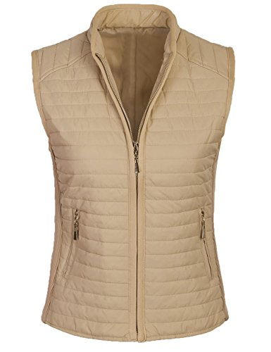yellow quilted vest - 9