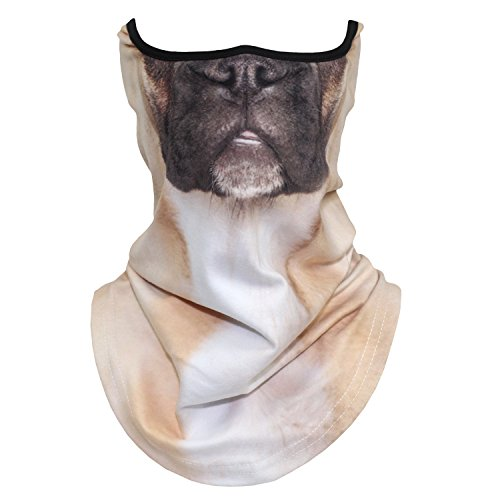 3D Animal Prints Neck Gaiter Half Face Mask for Motorcycle Cycling Skiing Hiking Halloween Party Costume Cosplay(37) -