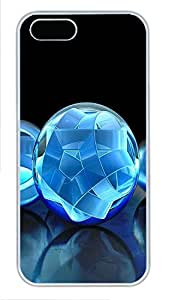 iPhone 5 5S Case 3D Crystal Sphere PC Custom iPhone 5 5S Case Cover White by Maris's Diary