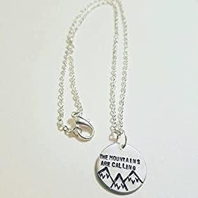 The Mountains Are Calling Necklace - Mountain Landscape Necklace