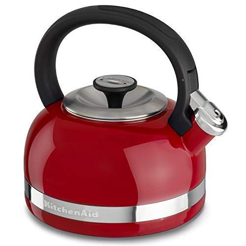 KitchenAid 2-Qt. Kettle with Full Handle and Trim Band - Red - Kitchenaid Porcelain Enamel