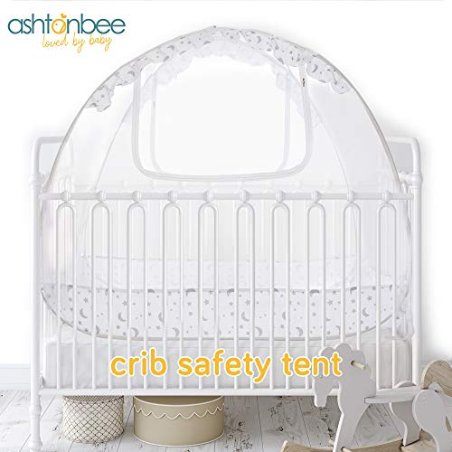 Baby Crib Canopy Safety Tent, Baby Crib Tent, Mesh Crib Cover, Baby Bed Tent, Baby Crib Net Pop Up (Canopy Cribs)