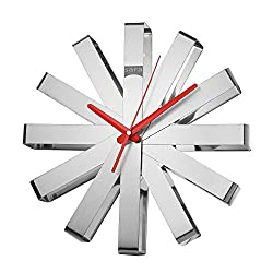 Sara Ribbon Stainless Steel Wall Clock