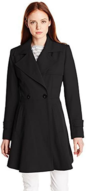Trina Turk Womens Petite Phoebe Trench Coat Black 8 Trina Turk Women/'s Outerwear TT050P6