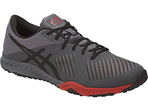 ASICS Men's Weldon X Cross Training Carbon/Black/Prime Red 9.5 D(M) US