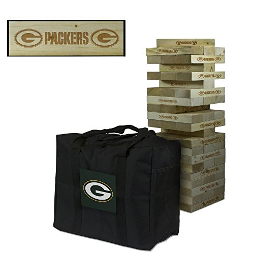 NFL Green Bay Packers Green Football Wooden Tumble Tower Game, Multicolor, One Size by Victory Tailgate