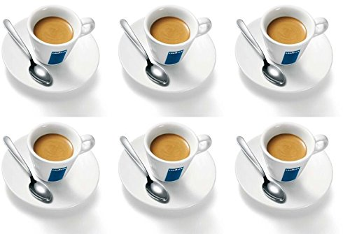 6 x Lavazza Espresso Cups, Saucers and Spoons WB-ILOU-61JH