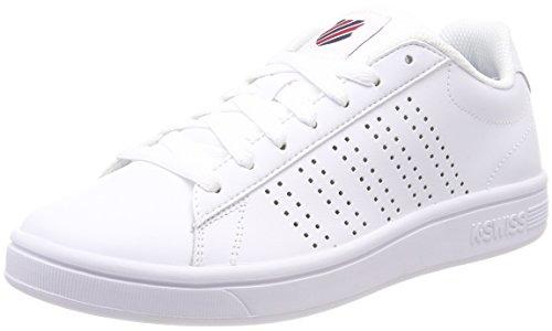 K-suisse Tribunal Damen Wei? Sneaker Casper (poivre Blanc / Piment Blues Robe 140)