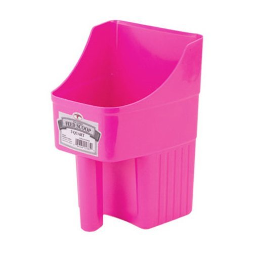Enclosed Feed Scoop, Hot Pink (3 Quart Feed Scoop)