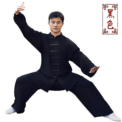 Shanren Sports KungFu Martial Arts Wear Wushu Uniforms (XXXXL, black)